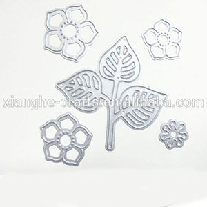 DIY Paper Craft Leaf and Flower Shape Scrapbooking Metal Cutting Dies Laser Etching Template Cutter Dies