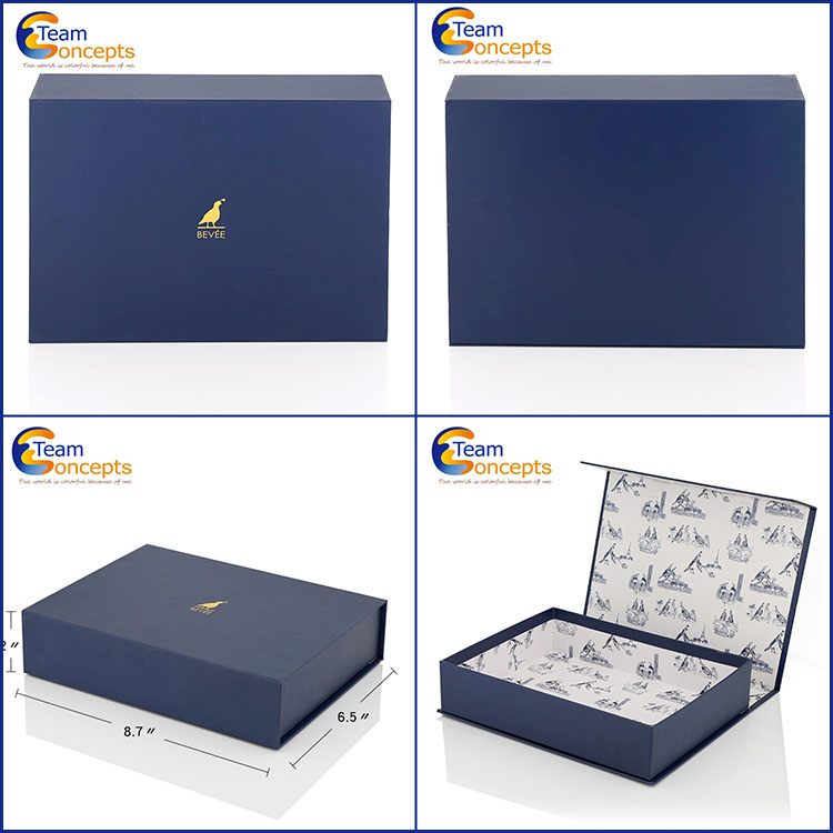 Custom hinged cardboard gift boxes with lid