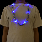 Happy day shining led festival jewellery decorative jewelry necklace toy for party