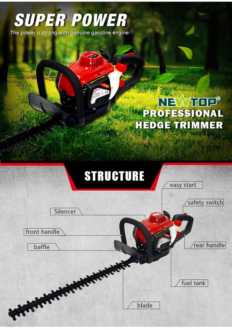 professional petrol long pole multifunction Hedge Trimmer with EUROII CE GS
