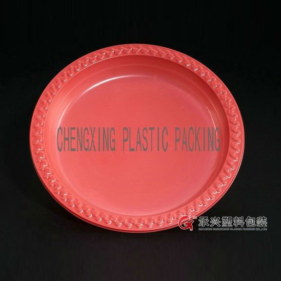 ChengXing brand wholesale 10 inch disposable plastic dinner plate