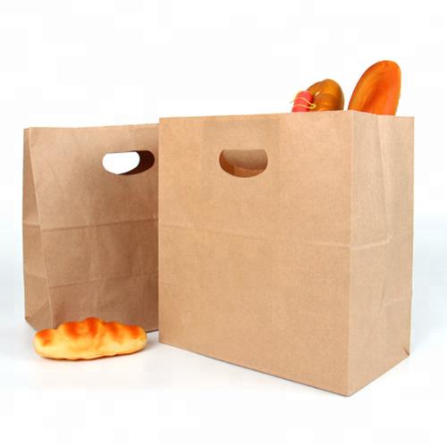 Custom Food Grade Brown Craft Paper Bag For Grocery Food