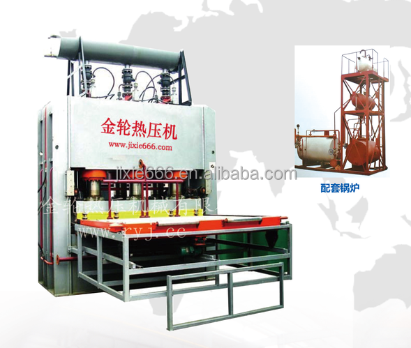plywood short cycle laminating press machine, heat press machine