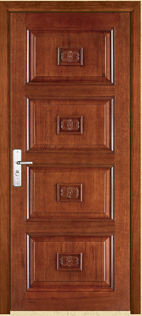 Panel Arch Top Knotty Alder Raised V-Groove Solid Core Interior Wood Doors