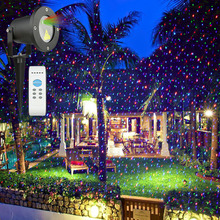 Starry Sky Laser Garden Lights Outdoor RGB Projection Christmas Decoration Lights IP65 Waterproof with Adaptor