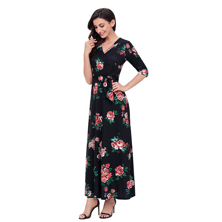 7569b424fe9 China Maxi Long Black Dress