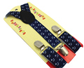 Free Shipping 2016 New Cute Adjustable Clip On Navy Color Kids Suspenders Anchors Print Braces for