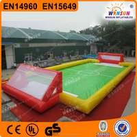 EN14960 commerical gaint inflatable football pitch field games