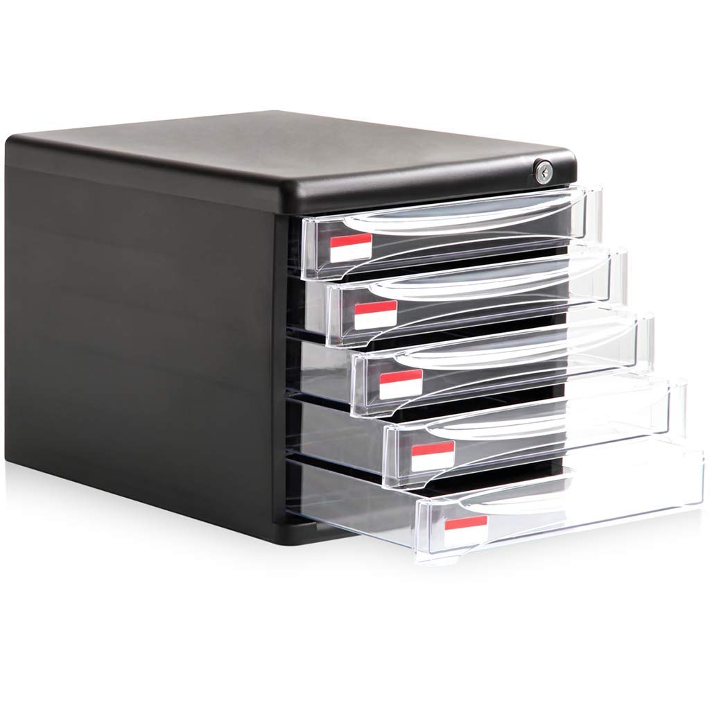 WJ Drawers Drawer Storage Trolley, Monochrome Mobile Storage Trolley Home,Office & Salon