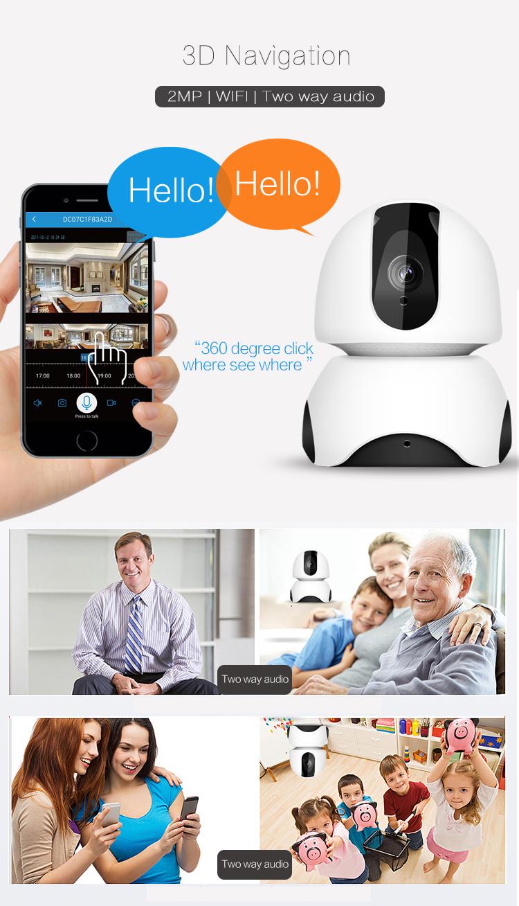 Новый 1080P умный дом беспроводной безопасности CCTV Облачное хранилище движения автоматическое отслеживание с ночного видения Wifi IP камера
