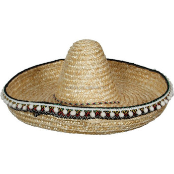 adult Straw Mexican Bandit Fancy Dress Costume Sombrero mexican Hat HT2264 c312daefd0b4