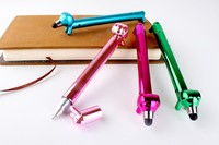 Top selling lowest price cartoon dog plastic ball pen