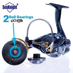 AOBILE(TM)Best Aluminum Spool Spinning Fishing Reel Saltwater Fishing Gear Carbon Fiber Drag and Real 11 Ball Bearings 1000 2000