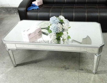 Hotel Lobby Rectangle Living Room Mirrored Coffee Table Furniture In
