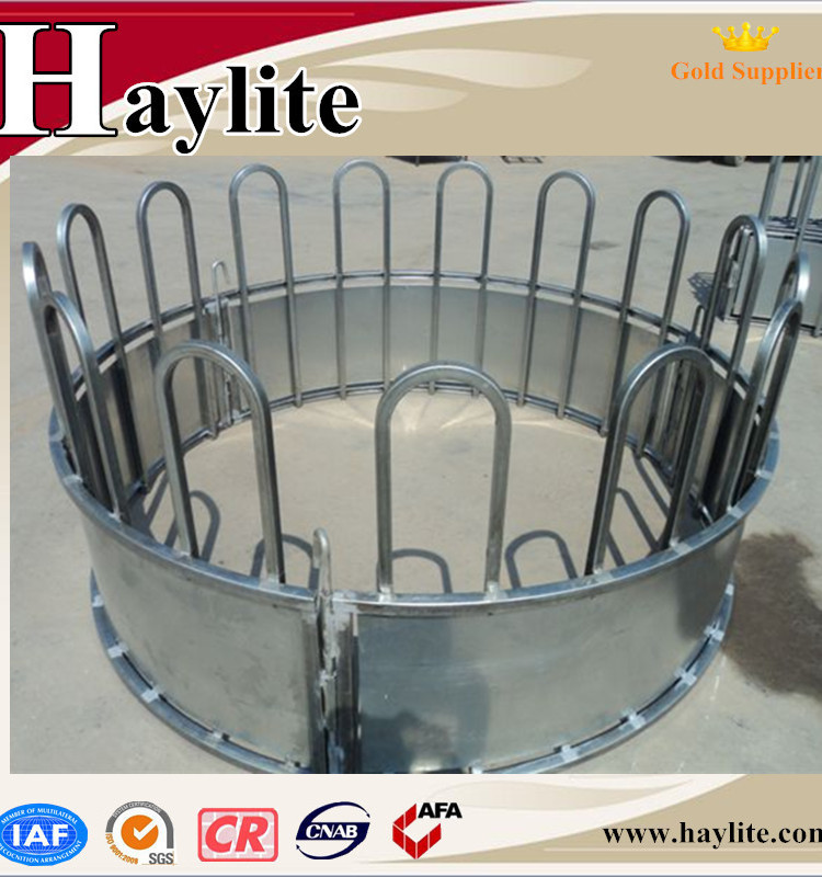 Hot Dip Galvanized Pipe Round Cattle Hay Feeder