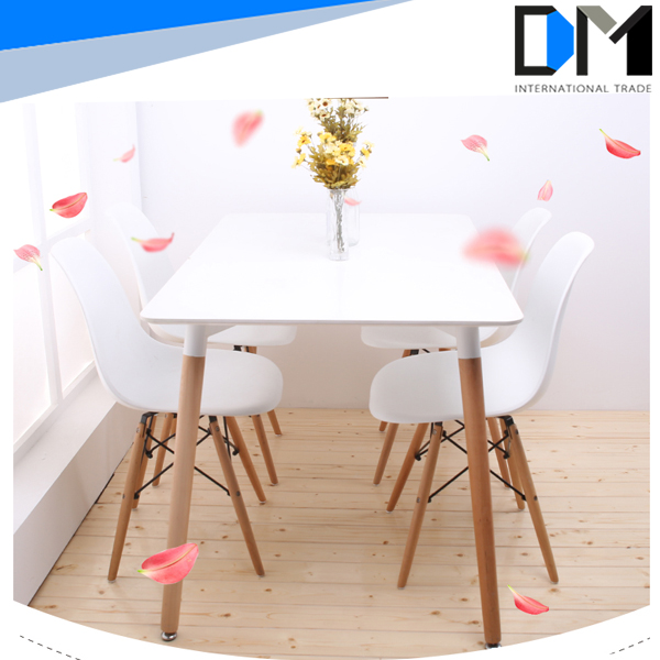 Bar Table Wholesale Modern Wooden Rectangle Wood Dining Table/Dining Room Table
