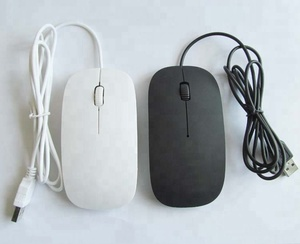 USB Flat Mouse Slim Mouse Wired Optical Mice PC Computer Accessories 1.2m cable Mouse