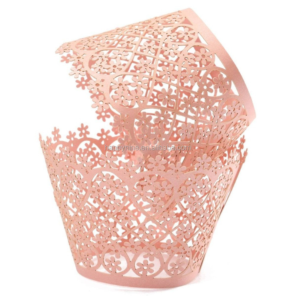 Lace Laser Cut Cupcake Wrappers - Buy Cupcake Wrappers ...