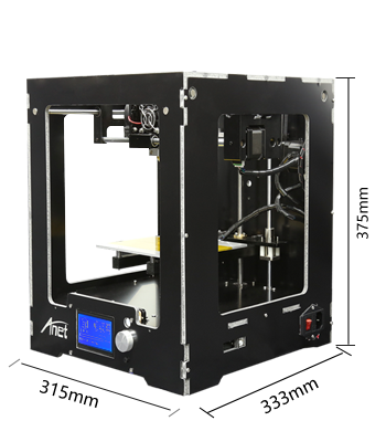Big LCD12864 screen high speed desktop industrial 3d printer for 3d model