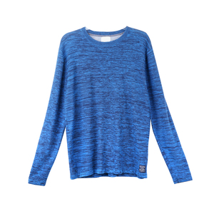 Ladies fashion melange knitted women's sweater lose style pullover