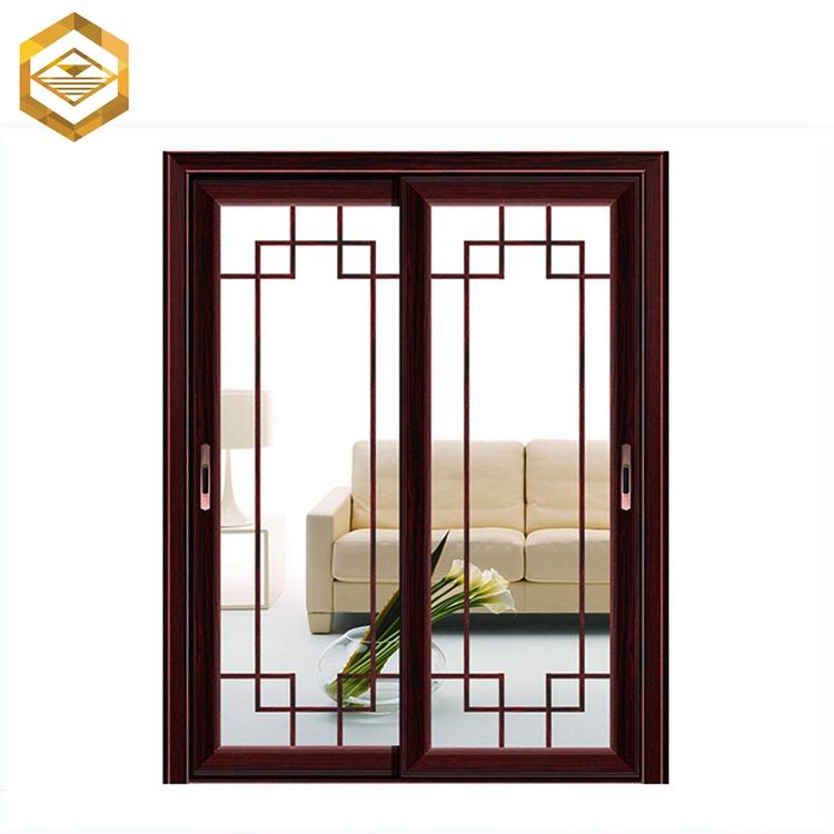 Western Style Commercial Interior Sliding Glass Kitchen Door Design