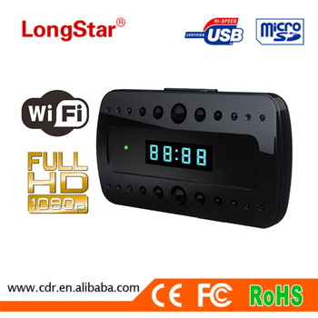 Hottest Wifi spy camera IR Super Night Vision HD 1080P Wifi Clock Camera