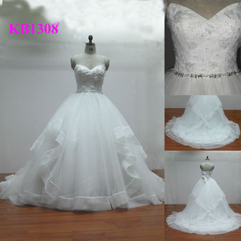 10ad957573f ... Beaded Sweetheart Big Ball Gown Wedding Dress Special Skrit Buy