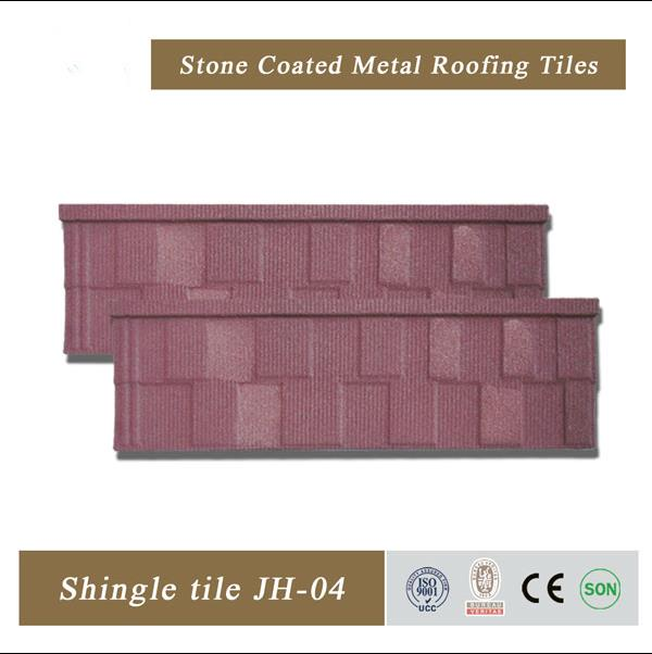 Low cost kerala stone coated metal roof tile european roof tile