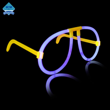 Plastic Colorful Party Supplies Fluorescent Children Glasses Glow Sticks Flashing Festival Glasses