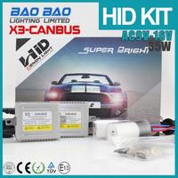 Top quality headlamp hid xenon headlight, h7 hid xenon bulb holder adapter, hid h1 short bulb canbus x3 AC 35w , BAOBAO Lighting