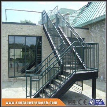 Galvanized External Steel Walkway Staircase Design