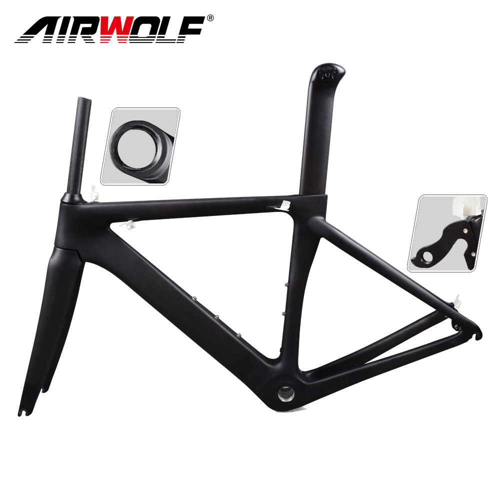 Airwolf carbon road bike frame Di2 and Mechanical framework bicycle size in 48/51/54/56cm carbon bike frame, All colors available