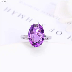 China wholesale gemstone jewelry factory wholesale new fashion 925 Italian Silver natural amethyst ring silver for women