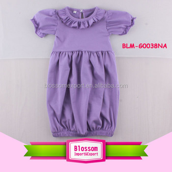 37de0eb97ecf Monogram Blank Baby Ruffle Gown Photos Frock Baby One Piece Gown Plain  Infant Tunic Dress Latest Design Baby Ruffle Trim Gown - Buy Monogram Blank  ...