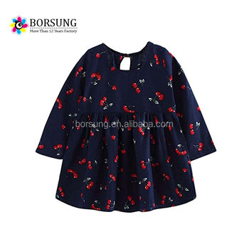 latest tops designs boutique cotton ruffle girls one layers printed