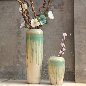 Modern style Large Modern Color Big Floor Flower Vases
