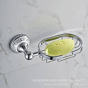 JinRou Unique design style European modern gold-copper-zinc alloy porcelain SOAP dish bathroom accessories , Silver