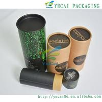 top brand name custom beautiful paper tea tin tube packaging for chinese tea from shenzhen port