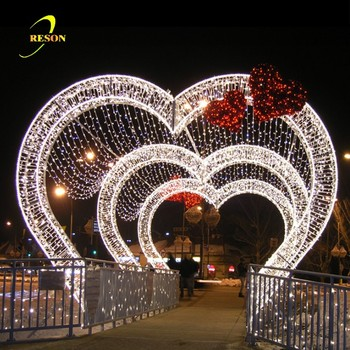 Christmas Arch Led Lights Street Motif For Wedding Marriage Decoration