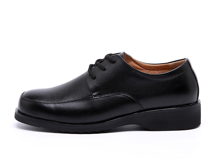 Policeman shoes Black Cowhide Leather shoes Officer Business Men's footwear shoes