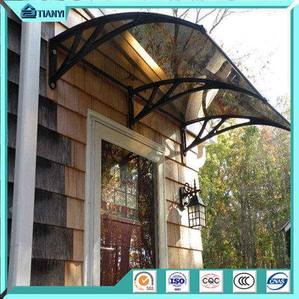 Good Quality Overhead Polycarbonate Glass Door Canopy Window Awning