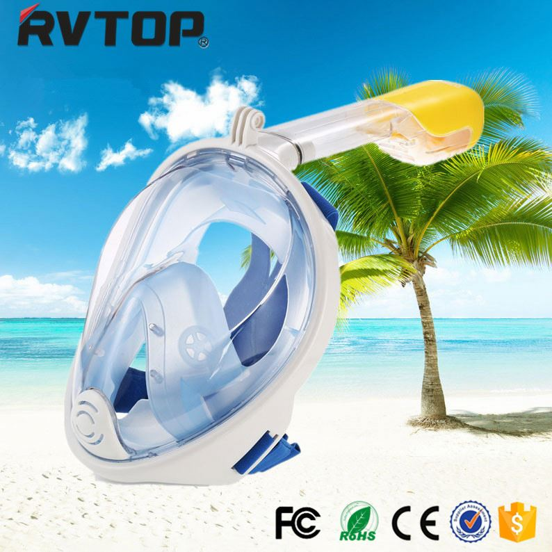 Innovative product Anti-Fog Dry Diving 180 degree view snorkeling full face mask for diving designed for gopro