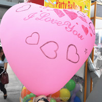 "colorful heart shaped 36"" giant globos/balloons for Valentine 's day party"