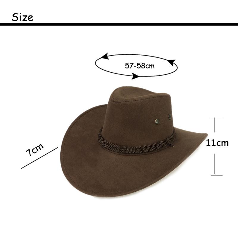 e0aa69036 Cool Western Cowboy Hats Men Sun Visor Cap Women Travel Performance Western  Hats Chapeu Cowboy 9 colors YY17059