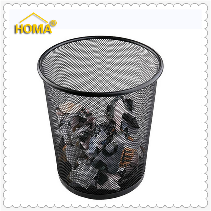 Schwarz Metall Runde Billig Draht Papierkorb - Buy Product on ...