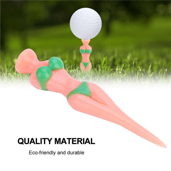 2018 New Design Caiton 6PCS 80MM Plastic Reusable and Eco-friendly Golf Ball Tees Nails