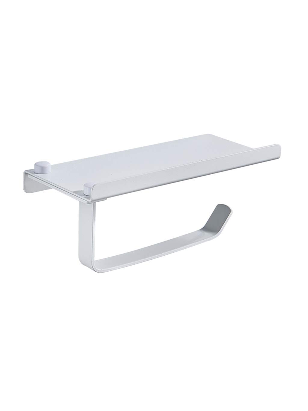 LE fu yan Toilet Paper Holder Punch-free Bathroom Toilet Mobile Phone Holder Roll Paper Toilet Paper Holder Toilet Paper Holder Tissue Box Paper Holder Wall Mount (Color : A)
