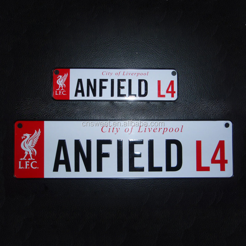 embossed license number plate with customized logo