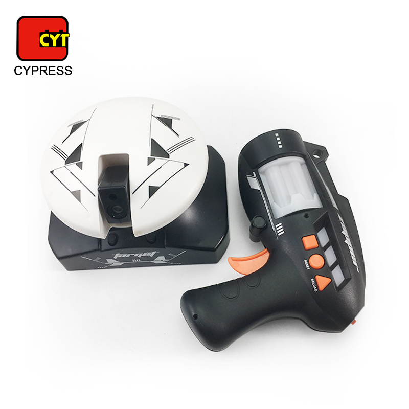 china plastic hand space laser tag gun toy with robot target