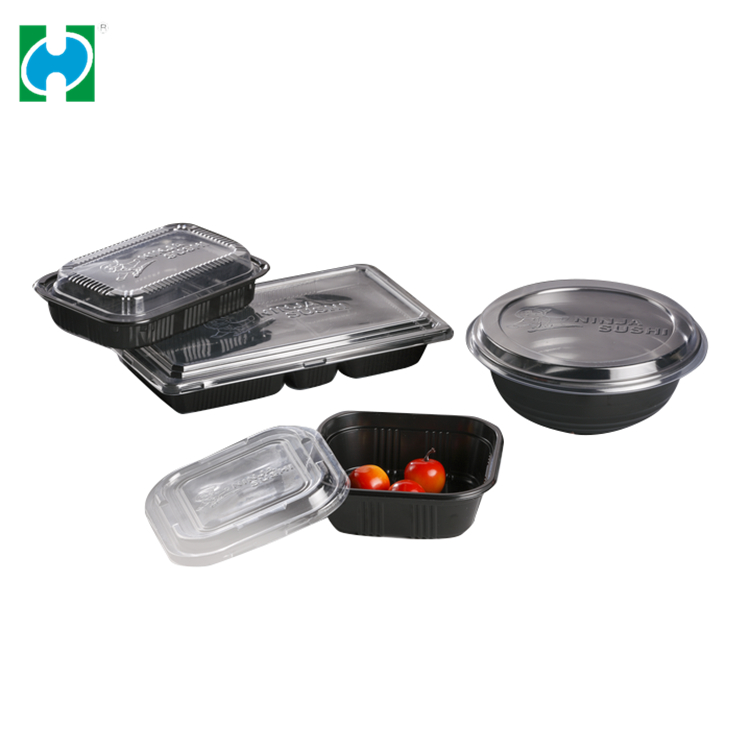 Custom Cake Disposable Boxes Packaging Takeaway  Plastic Food Container With Lids